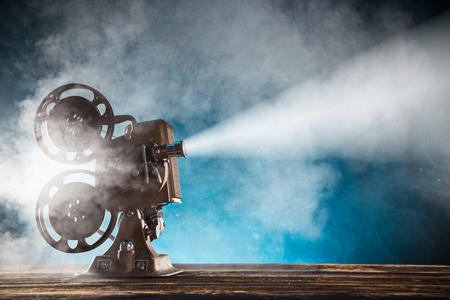 Photo pour Old style movie projector, close-up. - image libre de droit