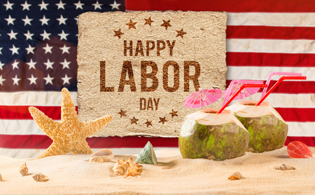 Photo for Labor day banner, patriotic background - Royalty Free Image