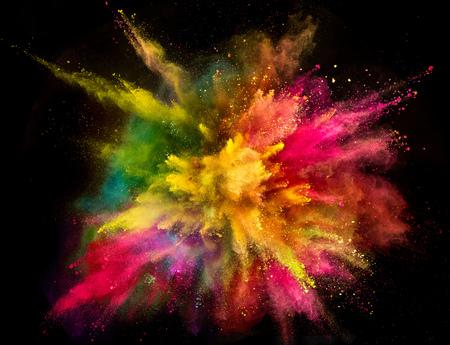 Photo pour Colored powder explosion on black background. - image libre de droit