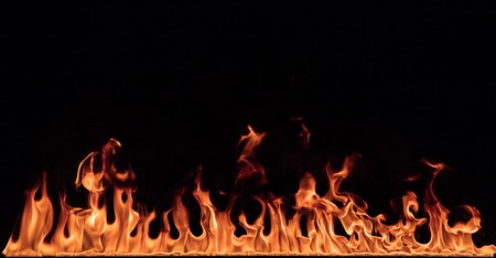 Photo pour Texture of fire on a black background. - image libre de droit