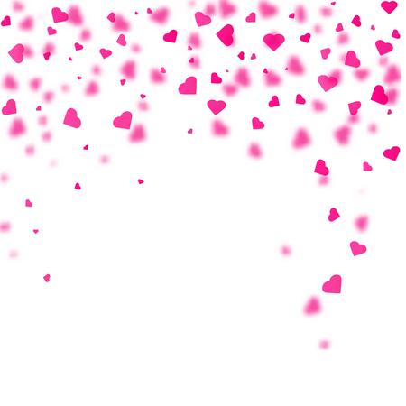 Illustration pour Heart shaped confetti falling down. Vector illustration - image libre de droit
