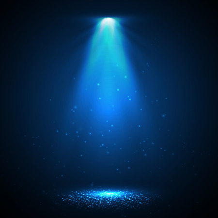 Illustration pour Abstract  Vector Spotlight isolated on transparent background. Light Effects. - image libre de droit
