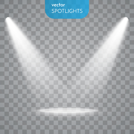 Ilustración de Abstract Spotlight isolated on transparent background. Light Effects. - Imagen libre de derechos