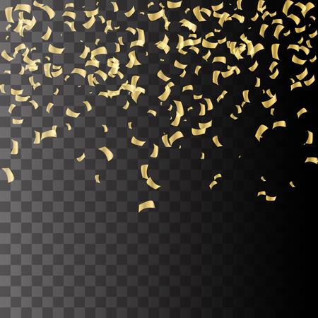 Illustration pour Golden explosion of confetti. Golden grainy abstract texture on a black background. Design element.  - image libre de droit