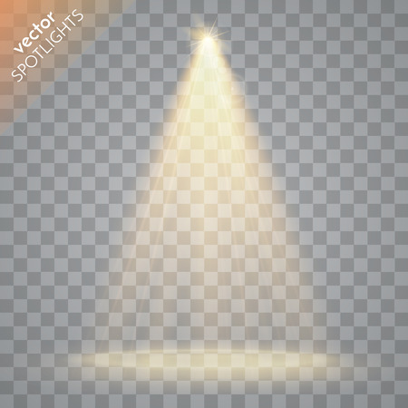 Ilustración de Abstract  Vector Spotlight isolated on transparent background. Light Effects. - Imagen libre de derechos
