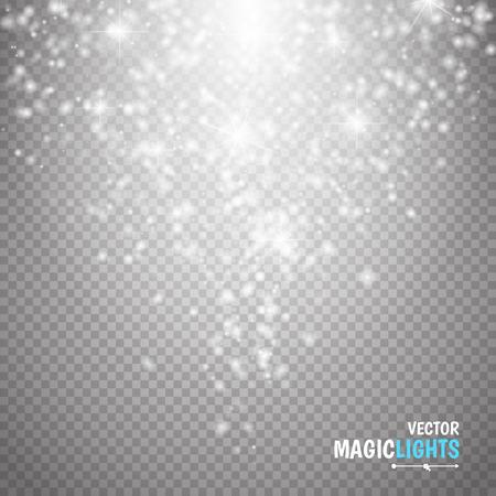 Ilustración de Magic light vector effect. Glow special effect light, flare, star and burst. Isolated spark. vector illustration - Imagen libre de derechos