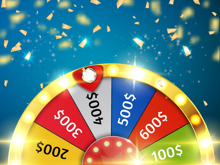 Illustration for Colorful wheel of luck or fortune infographic. Vector - Royalty Free Image