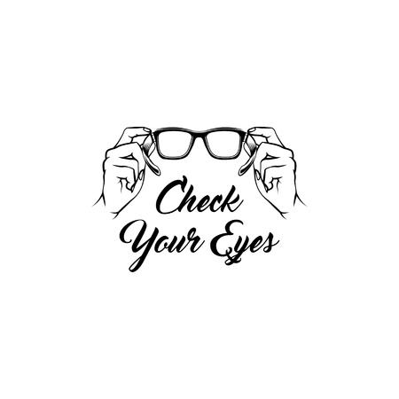 Illustration pour Glasses icon medical care optician creative ophthalmology design vector illustration - image libre de droit