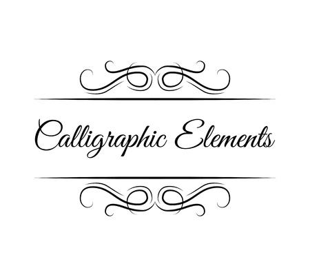 Illustration pour Calligraphic page decoration elements vector illustration - image libre de droit