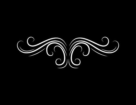 Illustration pour Page decoration. Ornate calligraphic vintage element, divider. Vector illustration - image libre de droit