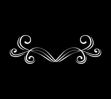 Illustration pour Flourishe swirl, curl, scroll element. Calligraphic design element. Vector illustration. Wedding page decoration - image libre de droit