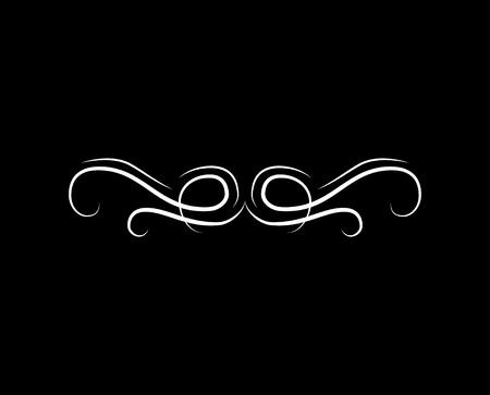 Illustration pour Calligraphic swirl, scroll element, filigree wave, flourish divider. - image libre de droit