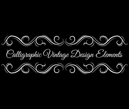 Illustration pour Ornate scroll, decorative design elements. Vintage Vignette Borders . Calligraphic vintage design element. Vector illustration - image libre de droit