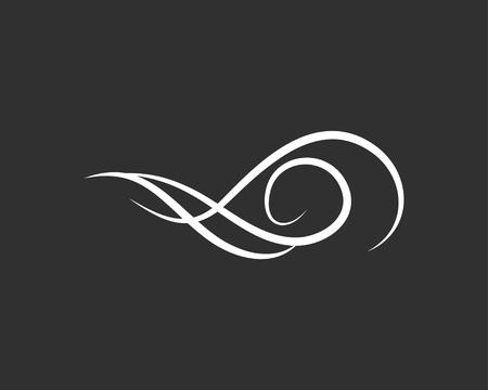 Illustration pour Flourish filigree scroll. Swir, Wave. Vintage element, page decoration. Ornate frame and scroll element. Wedding invitation design. Vector illustration. - image libre de droit