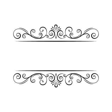 Illustration pour Vintage Decorations Elements. Flourishes Calligraphic Ornaments and Frames. Retro Style Design Collection for Invitations, Banners, Posters, Placards. Swirls, curls, filigree elements. Vector illustration. - image libre de droit