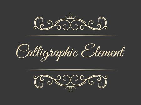 Illustration pour Calligraphic flourish design elements. Page decoration. Elegant vintage borders and dividers for greeting card, retro party, wedding invitation. Filigree swirls. Vector illustration. - image libre de droit