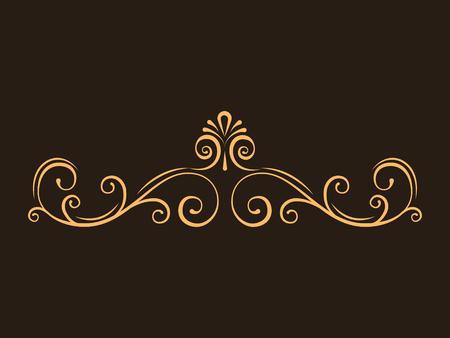 Ilustración de Decorative page dividers, Swirls, Curls. Calligraphic filigree page border. Vintage style. Vector illustration. - Imagen libre de derechos