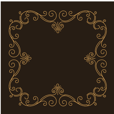 Illustration pour Decorative filigree frame. Swirls, Curls. Ornate calligraphic page divider. Book decor. Holiday greeting card, Wedding invitation. Vector illustration. - image libre de droit