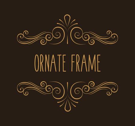 Illustration pour Ornate frame. Decorative page divider. Flourish pattern. Swirl. Wedding invitation, Greeting card design. Vector illustration. - image libre de droit