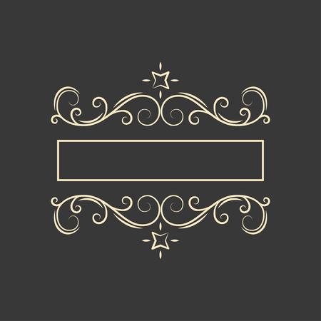 Ilustración de Vintage filigree flourish frame. Page decoration. Ornamental elegant calligraphic floral page divider. Wedding invitation, Greeting card. Vector illustration. - Imagen libre de derechos