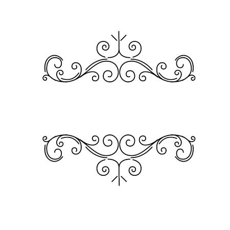 Illustration pour Ornamental borders, flourish vintage page dividers, royal ornament swirls and classical decoration elements. Vector illustration. - image libre de droit