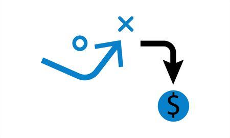 Ilustración de make money tactics icon vector illustration. - Imagen libre de derechos