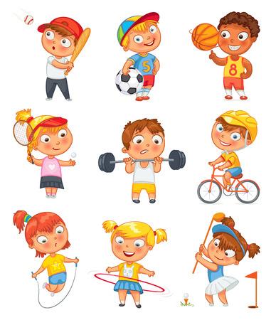 Ilustración de Sports and fitness. - Imagen libre de derechos