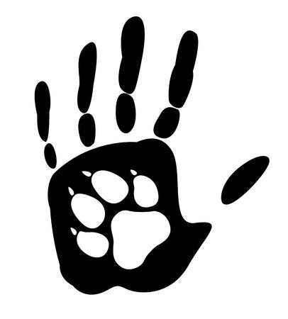 Ilustración de Dog - man\'s best friend.  - Imagen libre de derechos