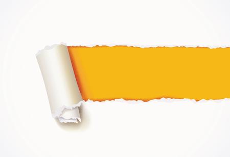 Illustration pour Curl of white paper.  - image libre de droit