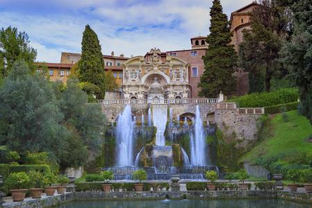 Photo for Villa d'Este, Tivoli most popular traveling destination in lazio south italy - Royalty Free Image
