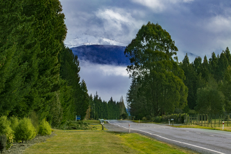 Photo for rural scene road side to te anau town south land new zealand - Royalty Free Image