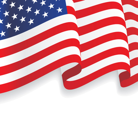 Photo for Background with waving American Flag. Vector - Royalty Free Image