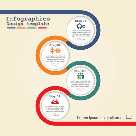 Ilustración de Infographic design template. Vector illustration. - Imagen libre de derechos