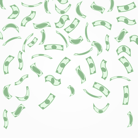 Illustration pour Background with money falling from above. - image libre de droit