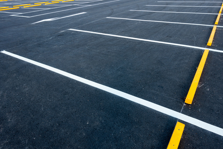 Photo for Empty car parking lots, Outdoor public parking. - Royalty Free Image