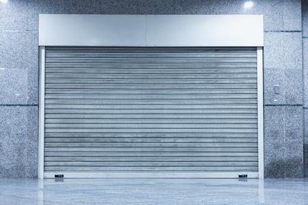 Foto de Shutter door, Indoor roller shutter door automatic  type. - Imagen libre de derechos