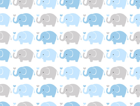 Photo for seamless elephant cartoon pattern  - Royalty Free Image