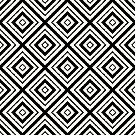 Illustration pour seamless rhombus mesh black and white pattern - image libre de droit