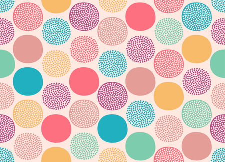 Illustration pour seamless cute doodle dots pattern - image libre de droit