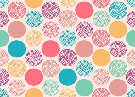 Ilustración de seamless cute doodle dots pattern - Imagen libre de derechos