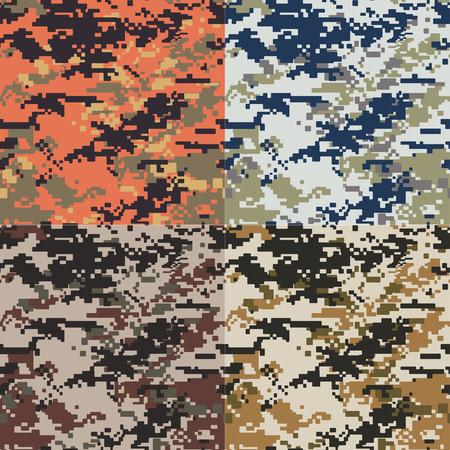 Illustration pour seamless camouflage pattern - image libre de droit
