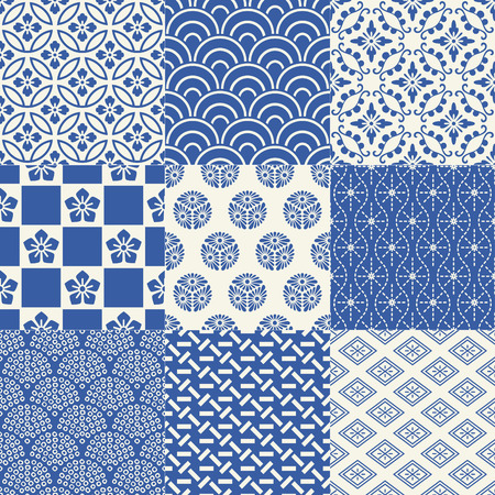 Foto de seamless japanese traditional mesh pattern - Imagen libre de derechos
