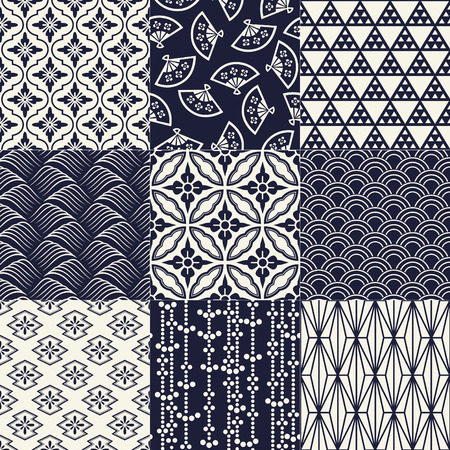 Photo pour seamless japanese traditional mesh pattern - image libre de droit