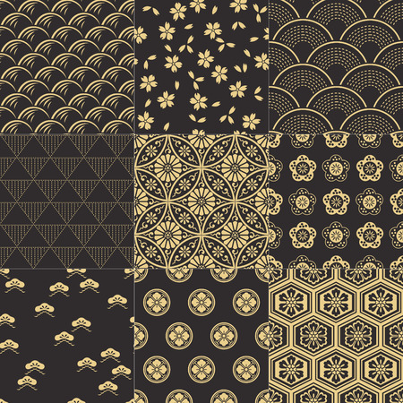 Illustration for japanese pattern - Royalty Free Image