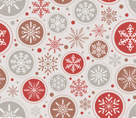 Photo for seamless christmas snowflake ornament pattern - Royalty Free Image