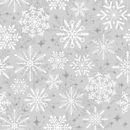 Illustration for seamless christmas snowflake pattern - Royalty Free Image