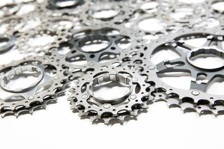 Photo pour Bicycle titanium cassette spare parts - image libre de droit