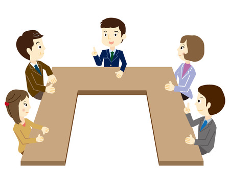 Illustration pour People who have a meeting - image libre de droit
