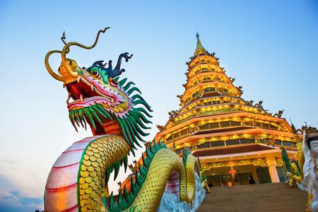 Foto de Chinese temple - wat hyua pla kang , Chiang Rai, Thailand - Imagen libre de derechos