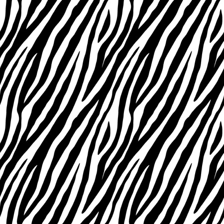 Ilustración de Zebra skin repeated seamless pattern. Black and white colors. 2x2 sample. - Imagen libre de derechos